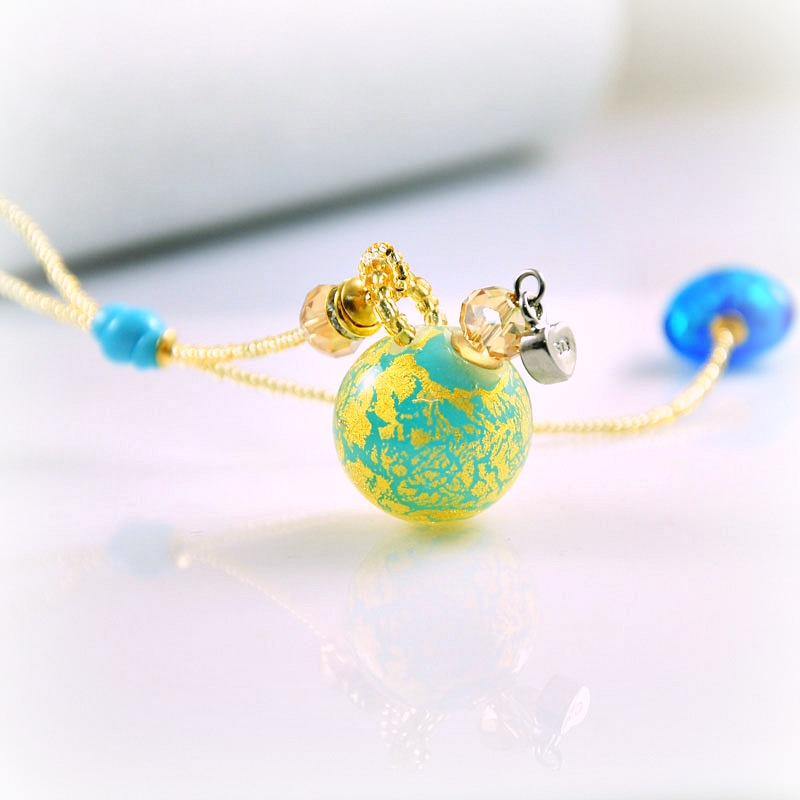 Halskette Dreaming Beads, hellblau